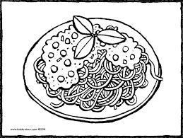 Kleurplaat Eten