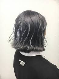 タンザナイトパープル 本厚木 派手髪 特殊カラー アッシュ グレー