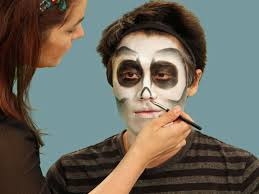 painting skeleton nose for makeup