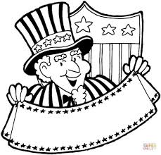 Uncle Sam Coloring Page to Encourage to color an image - Cool ...