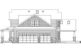 Craftsman House Plans   Tillamook     Associated DesignsBungalow House Plan   Tillamook     Right Elevation