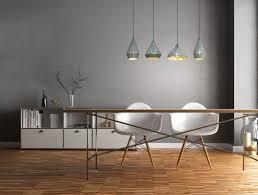 Hanglampen Set 4 Lampen Schorsing Metaal Grijs E27 Fitting Nodig