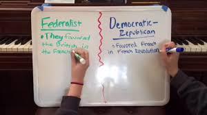 Federalists Vs Democratic Republicans