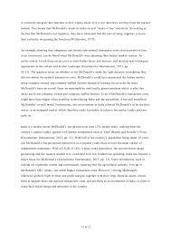 Mcdonalds Case Study Management