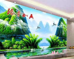 Beibehang 3d Behang Indoor Home Behang Verfrissende Landschap
