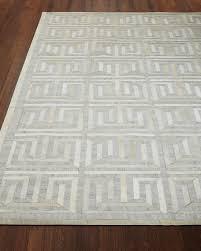 sterling greek key rug