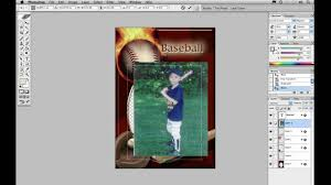 free trading card template creating sport cards photoshop template tutorial youtube
