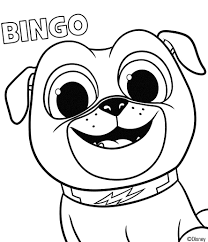 Puppy Dog Pals Coloring Page Bingo Coloring In 2019 Puppy