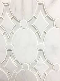 antique water jet tile white clear glass and arabeo polished marble mosaic