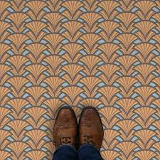 image of excelse art deco style pattern vinyl flooring unique printed designer vinyl flooring design
