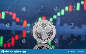 Ripple Stock Price Chart Ripple And Cryptocurrency Investing Concept Stock Image