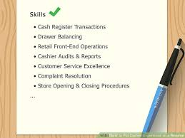 Cashier Skills To Put On A Resume How To Put Cashier Experience On A Resume 10 Steps
