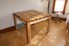 picture of butcher block hardwood table