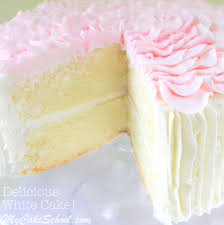 delicious white cake from scratch recipe by mycakeschool com