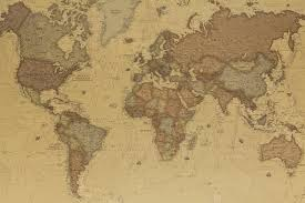 ancient world map  wallsome