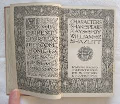 william hazlitt characters of shakespear s plays everyman s  65 william hazlitt characters of shakespear s plays everyman s library no
