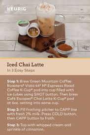 But whose budget can sustain a daily trip to the coffee shop? K Cafe Special Edition Single Serve Coffee Latte Cappuccino Maker Chai Latte Recipe Keurig Recipes Iced Chai Latte