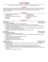 Resume For Packaging Job Best Picker And Packer Resume Example LiveCareer 1
