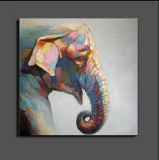 stretched elephant canvas painting abstract oil painting on canvas wall art modular picture modern wall pictures