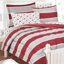 rugby stripe transportation 7 piece twin comforter set