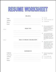Free Printable Resume Template Blank Unique Free Printable Resume Templates Omgoods