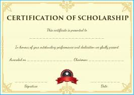 Scholarship Certificate Template Scholarship Certificate Template 7199