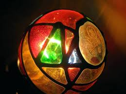 stained glass by lightbulbs light bulb target