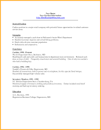 Cashier Duties And Responsibilities Resume Retail For Resume
