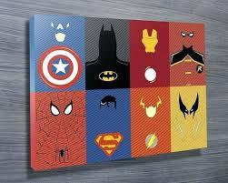 superhero canvas wall art marvel characters wall art on canvas intended for marvel canvas wall art  on marvel spiderman canvas wall art 4 piece with superhero canvas wall art cute for superhero room idea superhero