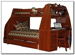 bunk bed with trundle and desk bunk bed with trundle desk and storage bunk bed trundle