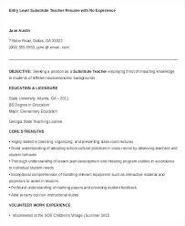 Sample Substitute Teacher Resume Substitute Teacher Resume Sample
