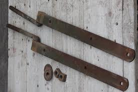 huge antique iron hinges pair of heavy farm gate hinges barn door hardware