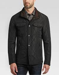 Pronto Uomo Black Quilted Modern Fit Jacket - Men's Casual Jackets ... & Pronto Uomo Black Quilted Modern Fit Jacket - Mens Casual Jackets,  Outerwear - Men's Wearhouse Adamdwight.com
