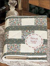 Quilted Bible Cover ~ Make a new quilted cover for your Bible ... & Quilted Bible Cover ~ Make a new quilted cover for your Bible. Embroider  the message Adamdwight.com