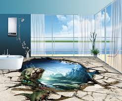 custom vinyl flooring dinosaur waterproof wallpaper for bathroom american wall paper 3d floor tiles soundproof wall