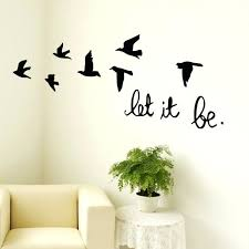 office wall decals office wall decals fresh let it be flying birds inspirational vinyl wall decal