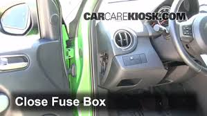 interior fuse box location mazda mazda  5 test component secure the cover and test component