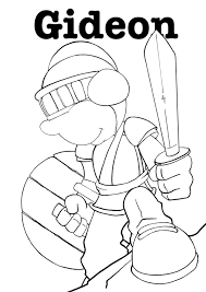 Small Picture Gideon coloring page coloringcom