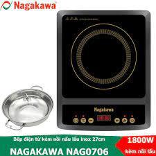 BẾP TỪ NAGAKAWA NAG0706 + Nồi _ Bảo Hành 12 tháng . - Bếp điện kết hợp