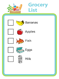 grocery checklist grocery shopping activities with kids the trip clip