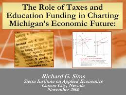 sims charting the role of taxes and education funding in charting michigans