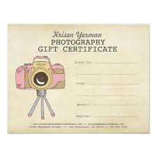 Photography Gift Certificate Template Photographer Photography Gift Certificate Template Kristenyerman