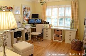 craft room ideas bedford collection. Pottery Barn Office With Bedford Furniture And Buffalo Check Curtains Craft Room Ideas Collection