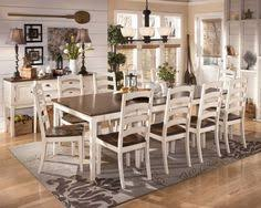 ashley furniture whitesburg rect dining room ext table with the warm two tone look of the cote white and burnished brown finishes beautifully accenting