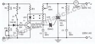 automatic lamp dimmer circuit light dimmer circuit schematic
