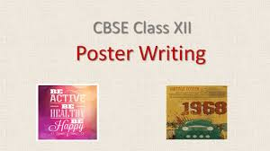 Poster Writing For Class 12 Cbse English