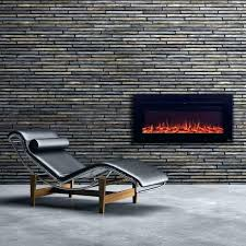 hampton bay electric fireplace bay in electric fireplace wall mounted touchstone sideline recessed inch matte steel