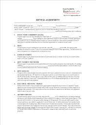 Printable Rental Agreement Template Blank Printable Lease Agreement Templates At