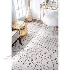 nuloom rzbd16a grey moroccan blythe area rug 4 x 6 grey b01dwn6ws0