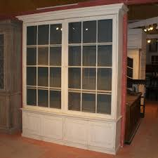 Antique BOOKCASES - Large early C glazed library bookcase, awaiting handles.